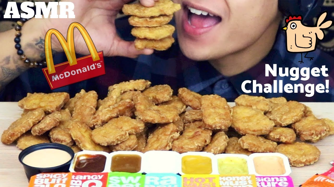 Asmr Mcdonalds Chicken Nuggets Challenge Auzsome Austins Crunchy Eating Sounds Captions
