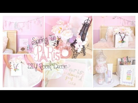 Spring in Paris DIY Room Decor Girly & French Part 2 ♡