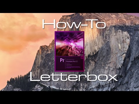 how to add letterbox in premiere pro
