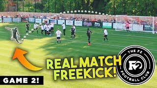 F2 SCORE AMAZING FREEKICK GOAL IN A REAL GAME! F2FC 🔥