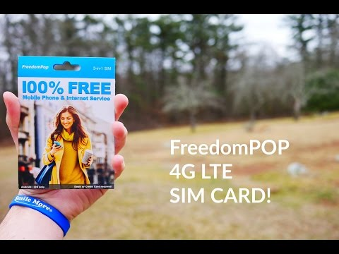 Free AT&T Cell Phone Service?! FreedomPOP GSM LTE SIM Card!