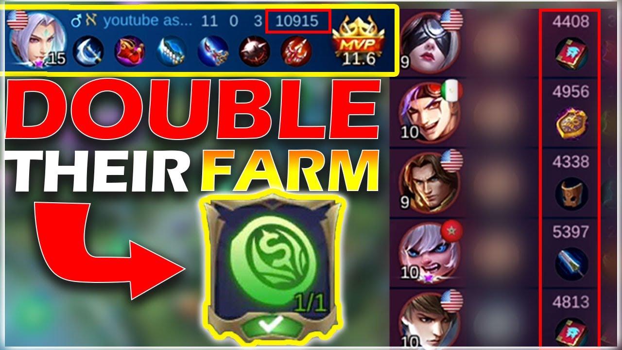 This Emblem let you DOUBLE your enemy's FARM | Mobile Legends