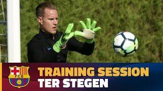 Ter Stegen training at Ciutat Esportiva