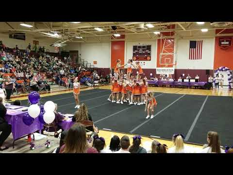 William Byrd Middle School at The Battle @ Byrd Cheer Competition 2018