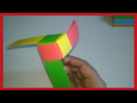 How to Make a Rotating Paper Fan - Origami paper fidget spinner