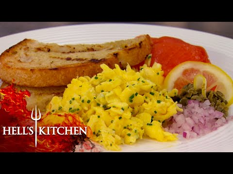 Gordon FURIOUS Over Being Served Sample Scrambled Eggs | Hell's Kitchen
