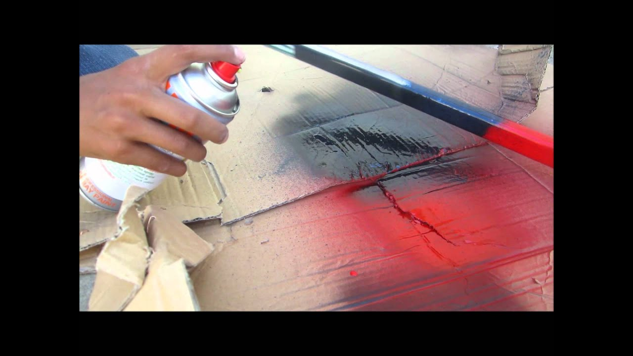how to spray paint a hockey stick youtube. Black Bedroom Furniture Sets. Home Design Ideas