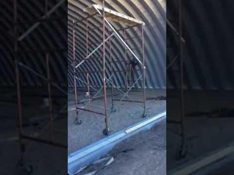 Metal garage kit installation youtube for Installer chatiere porte garage metal