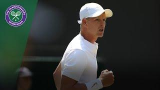 Kyle Edmund vs Bradley Klahn 2R Highlights | Wimbledon 2018