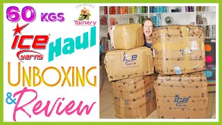 Biggest ever 60 kg Ice Yarn Haul 📦 Yarn Unboxing and Review 2020