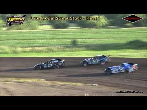 Late Model Street Stock Heats - Rapid Speedway - 7/17/18