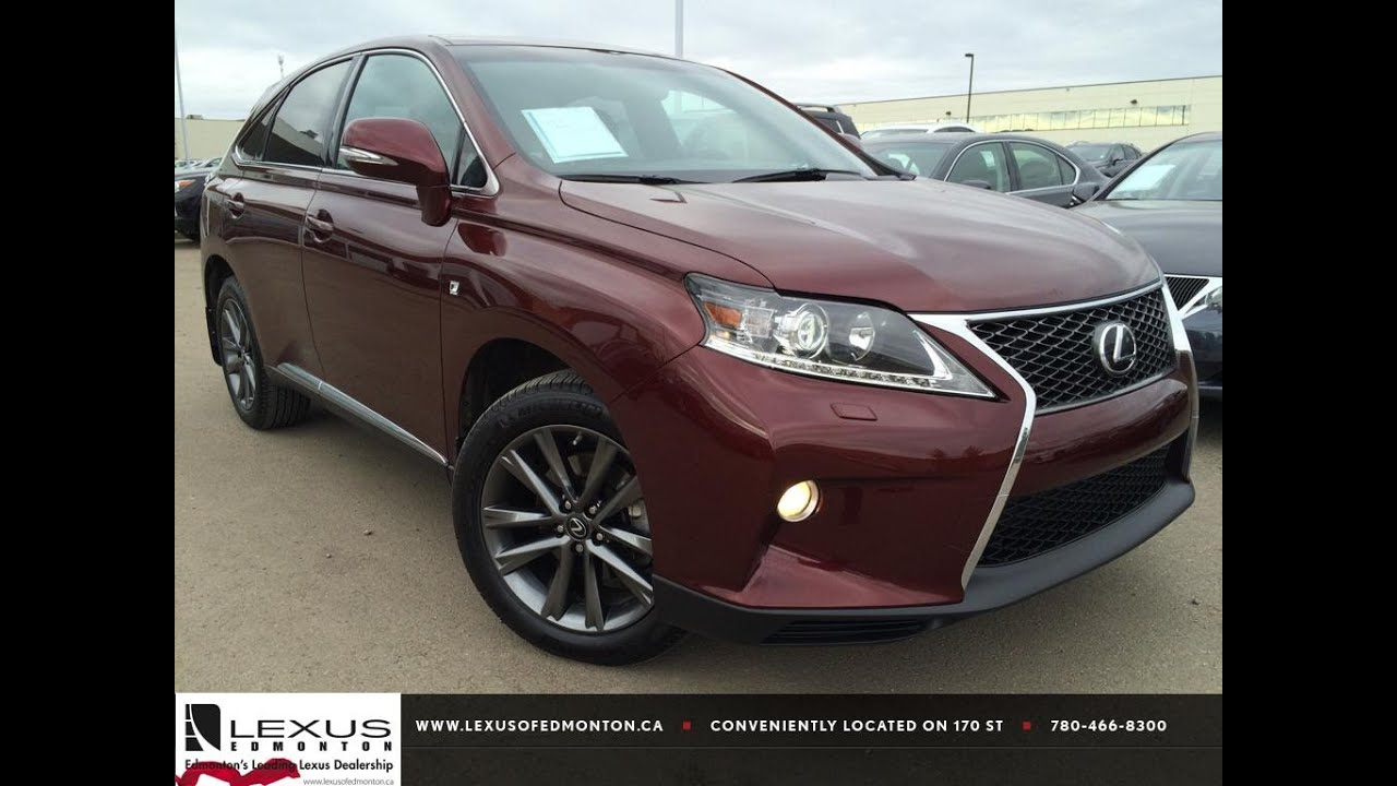 lexus 2014 rx 350 red. lexus certified pre owned red 2013 rx 350 awd f sport in depth review fort mcmurray alberta youtube 2014 rx