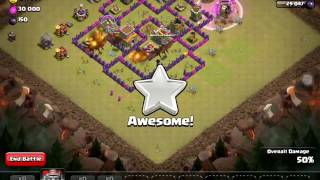 Clash Of Clans...How to attack in war log to take 3 stars