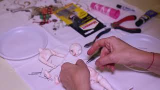 Сборка шарнирной куклы на резинку