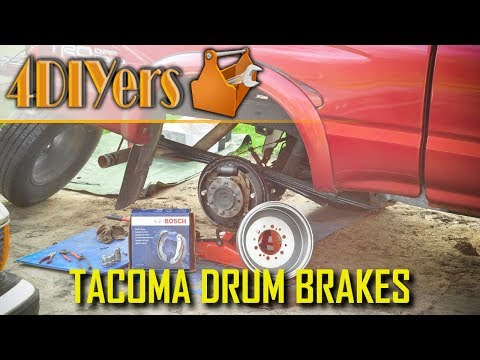 DIY: 95-04 Toyota Tacoma Rear Drum Brake Replacement