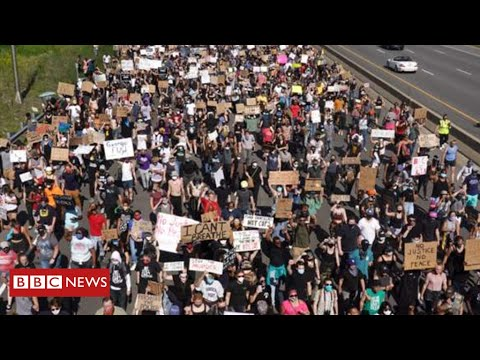 President Trump demands tougher response as protests escalate across America - BBC News