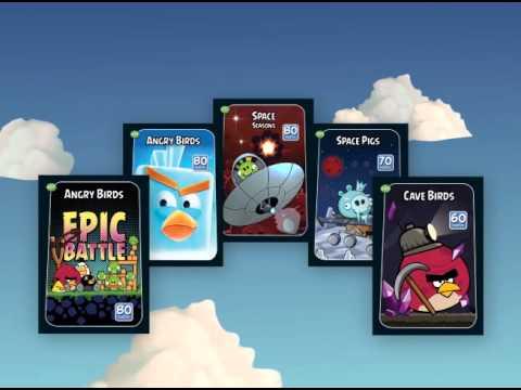 Angry Birds Juego de cartas serie negra  YouTube