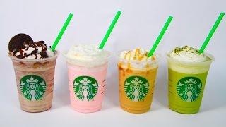 4 Frappuccinos tipo Starbucks (Oreo, Caramelo, Té Verde, Algodón de Azúcar) | KARLA CELIS