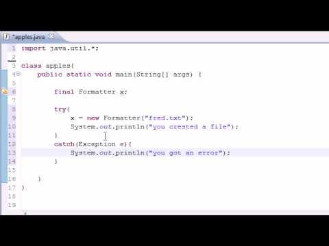Java Programming Tutorial - 79 - Creating Files