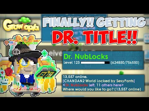 FINALLY!! GETTING DR. TITLE!!   ROAD TO GOLDEN MERCY WINGS & DR. TITLE #END   Growtopia