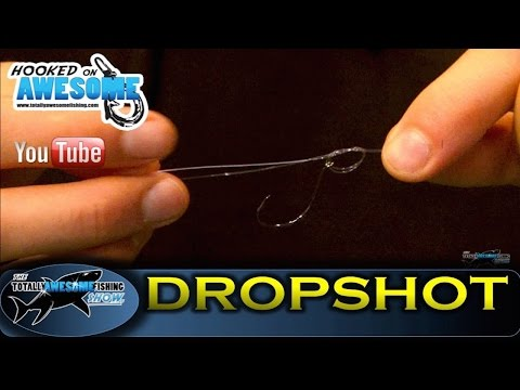 How to tie a DROP SHOT RIG, Simple & Easy -TAFishing Show