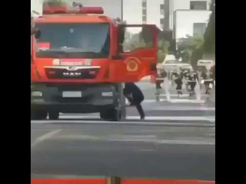 Abgang bei Feuerwehrfahrzeug nicht zugedreht