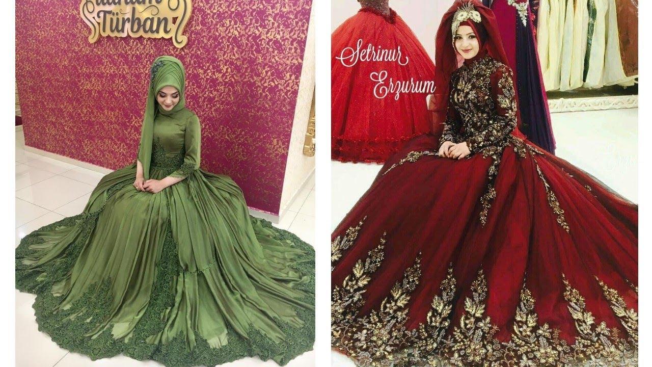 New Beautiful Muslim Wedding Ball Gownhijab Fashionmuslim Wedding