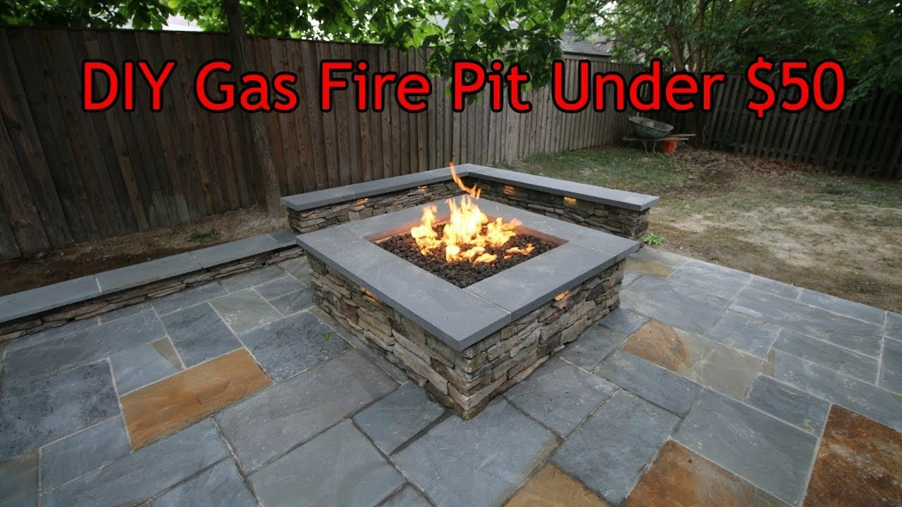 Diy Gas Fire Pit Under 50 In 1 Minute
