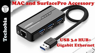USB 3.0 Hub + Gigabit Ethernet #Ugreen review - best for Surface Pro and Mac Devices