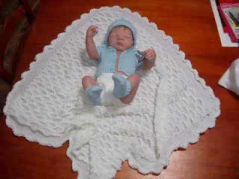 Knitted Baby Shawls Youtube