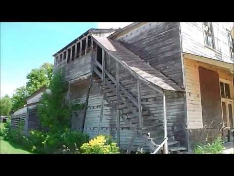 mysterious abandoned buildings in michigan: urban exploration of possible ghost town