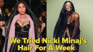 We Tried Nicki Minaj's Hair For A Week thumbnail