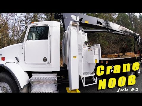 Crane NOOB - 1st Job With Our New Crane