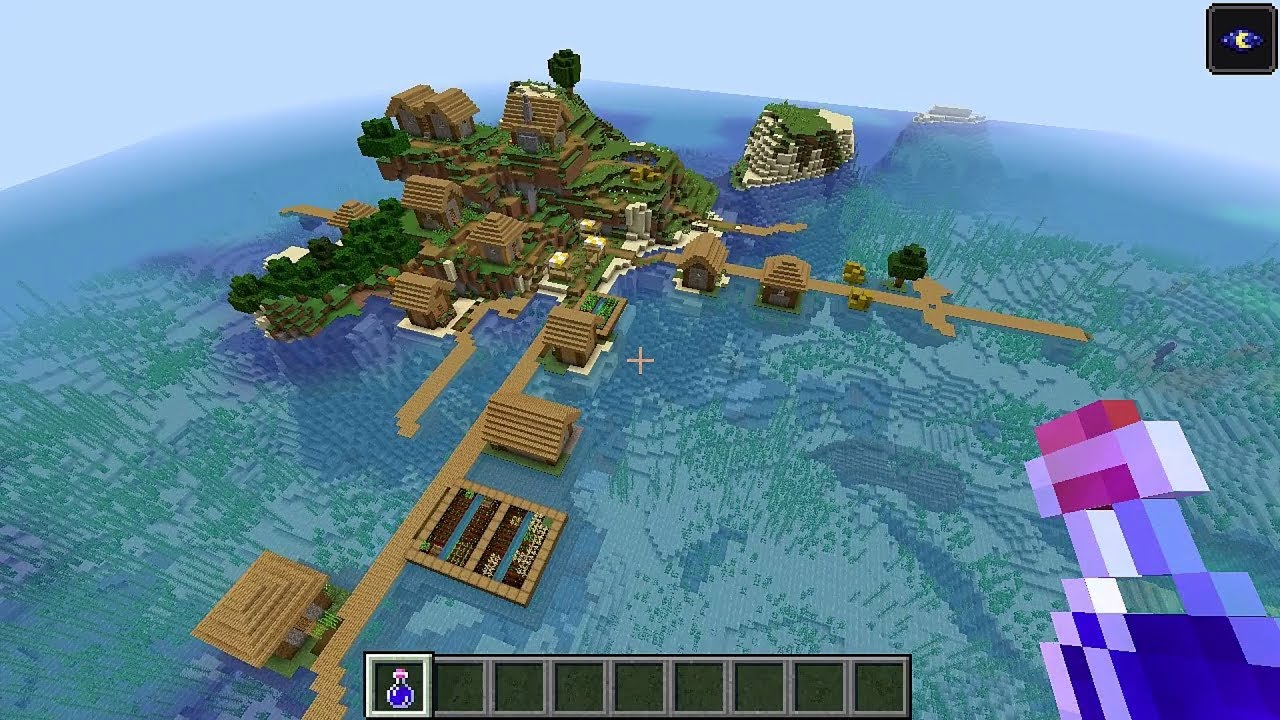 Minecraft 114 Seed 124 Big Island Village At Spawn