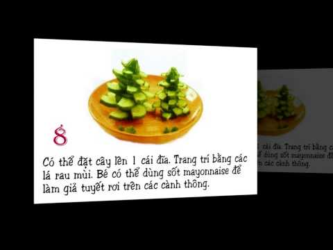 Hướng dẫn cắt tỉa rau củ quả thành cây thông Noel