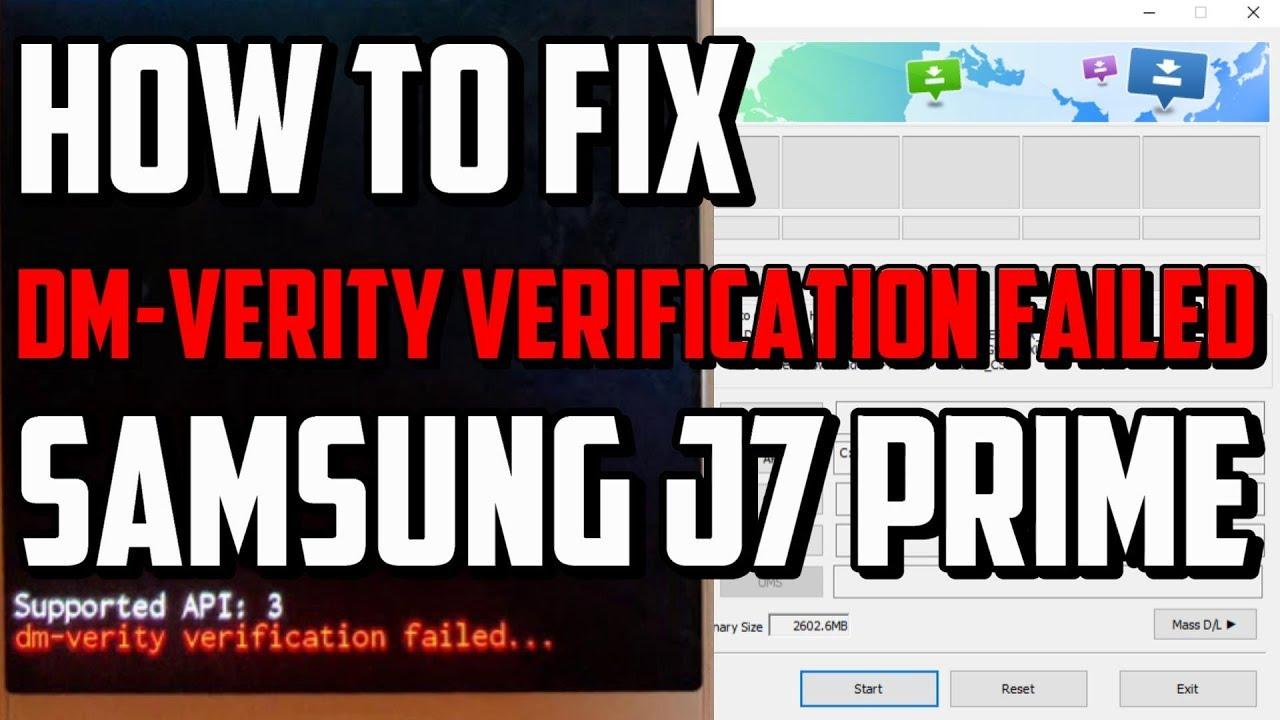 Fix dm-verity verification failed Samsung J7 Prime