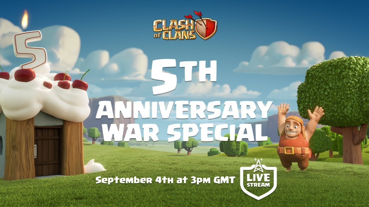 Clash of Clans - 5th Anniversary War Special! - YouTube