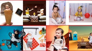 Baby photoshoot at home ideas | Creative Baby Photography ideas|