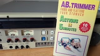 Vintage AB Trimmer workout video