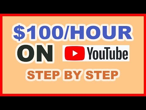 How To Make $100 Per Hour On Youtube (Make Money Online)