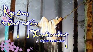 [Karaoke] RU EM TỪNG NGÓN XUÂN NỒNG - Trịnh Công Sơn (Giọng Nam)