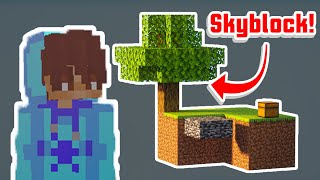THIS IS A DISASTER! | Minecraft Skyblock Co-op #1