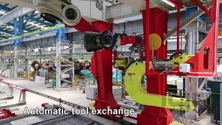 igm PV robotic spot welding gantry