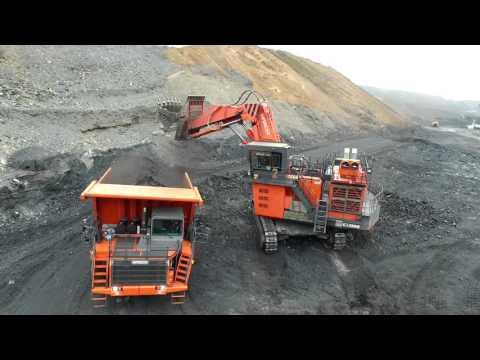 Hitachi mining machinery operating in Kazakhstan