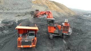 Hitachi mining machinery operating in Kazakhstan