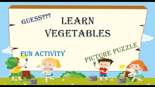 Picture Puzzle for kİds : Vegetables