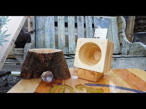 How to make a Smartphone Cone Speaker from Wood Pallets with no Lathe!