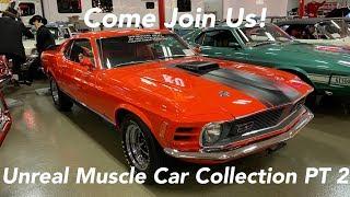 Muscle Cars!! Shelby Mustangs, Boss 429, Rare 409, 35 Corvettes — Skillman Classic Car Museum Part 2