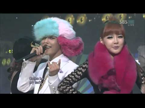 GD   T O P   Oh yeah! ft Park Bom on Inkigayo live mp4   YouTube