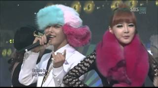 Repeat youtube video GD   T O P   Oh yeah! ft Park Bom on Inkigayo live mp4   YouTube